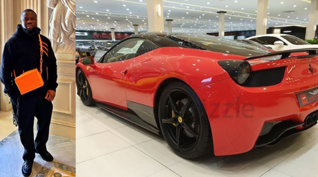 Hushpuppi Buys Himself A Brand New Ferrari (Photos)