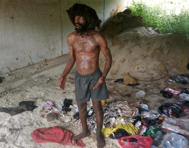 Suspected ritualist disguised as madman apprehended in Delta (photo)