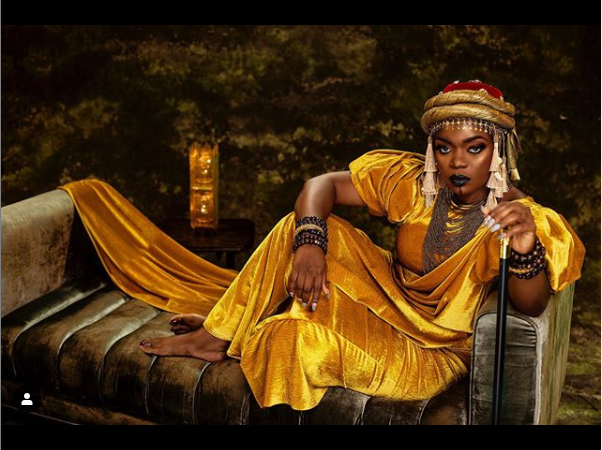 Actress Bisola channels Queen Amina of Zaria as she celebrates her 34th birthday